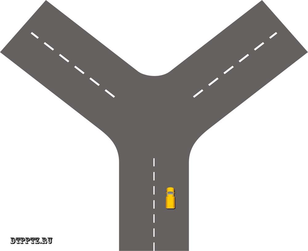 Правила проезда Т-образного перекрестка. Регулируемые перекрестки